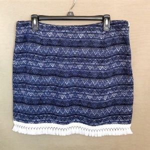 MICHAEL Michael Kors Skirts - New Michael Kors Fringe Trim Marled Knit Skirt